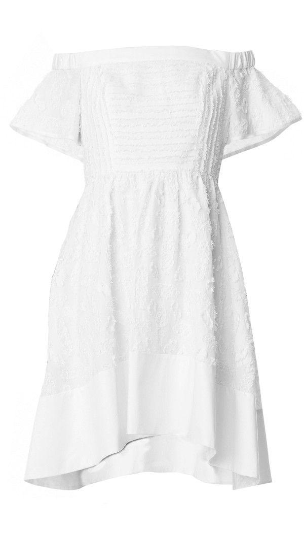 Tibi - Sakura Fil Coupe Off-the-Shoulder Dress