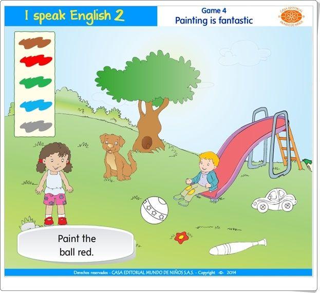"I speak English 2: ""Painting is fantastic"" (Colores de Ed. Infantil)"