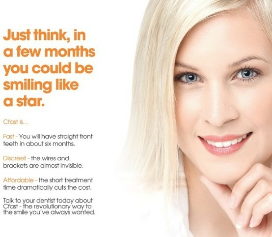 In about 6 months, you too can have the straighter teeth you have always wanted, Cfast at Bury Dental Centre
