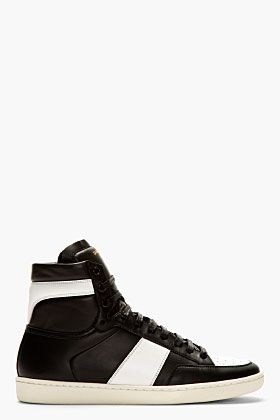 Saint Laurent Court Classic Sneaker Black/White: Saint Laurent's Court  Classic sneaker is back this season in a new black and white colorway. The  premium ...