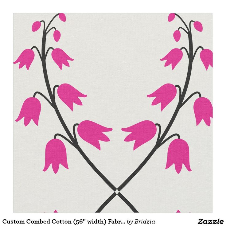 "Custom Combed Cotton (56"" width) Fabric -bells"