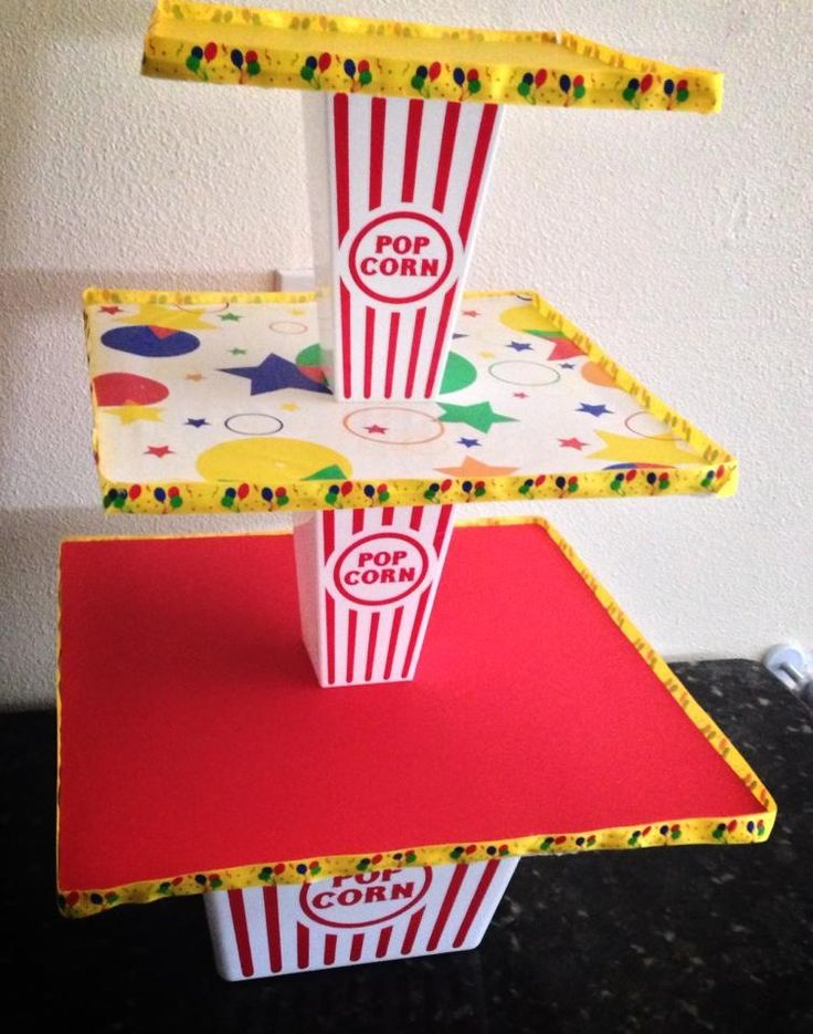 Circus cupcake stand ... photo inspiration only                                                                                                                                                                                 More