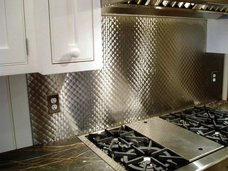 Find This Pin And More On Textured Metals For The Home In This Picture Brushed Quilted Stainless Steel Backsplash