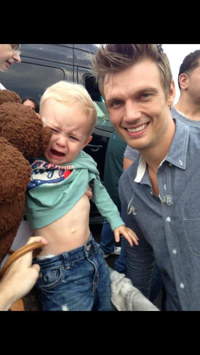 met @Nick Carter .. My son was not impressed. @Backstreet Boys