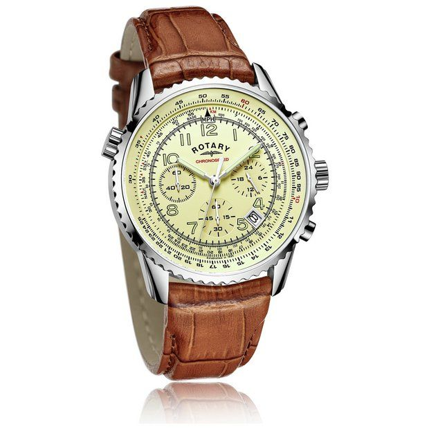 Buy Rotary Men's Brown Strap Chronograph Watch at Argos.co.uk - Your Online Shop for Men's watches, Watches, Jewellery and watches.