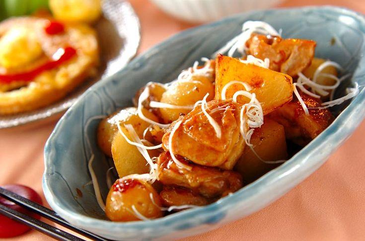 大根   見た目よりもあっさりとしていて上品な味付けです。鶏肉と大根のオイスター煮[中華/煮もの]2008.11.03公開のレシピです。