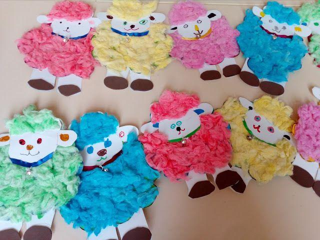 ovelha com algodão tingido