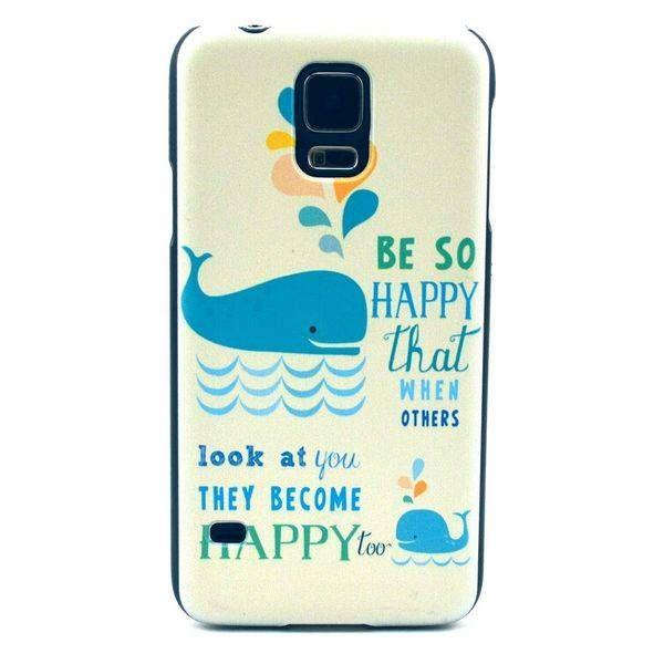 Happy Whale hardcase hoesje voor Samsung Galaxy S5