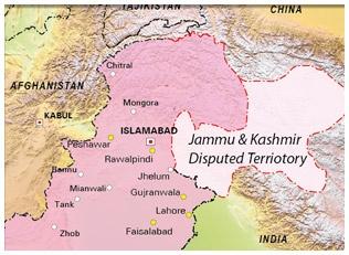 Kashmir Map as per Pakistan's claim.Pakistan considers GB an integral part of Pakistan unlike AK.