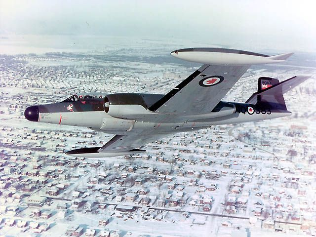 """All weather interceptor served in Canada and Europe. Planned successor """"ARROW"""" being cancelled,drove Avro Canada outof Aircraft Manufacturing."""