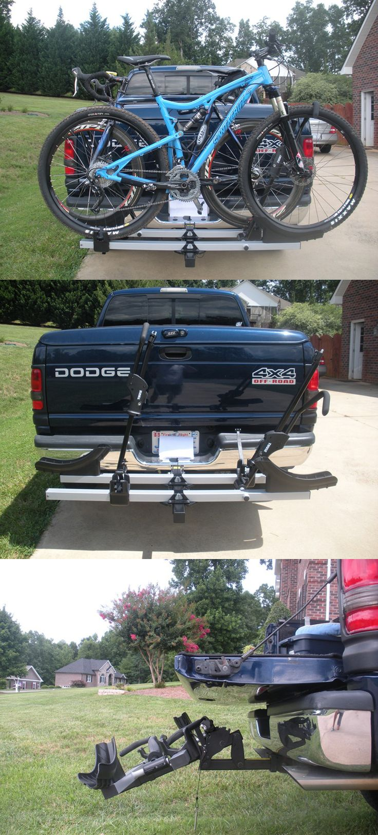 Thule platform bike rack for up to 2 bikes! This is a necessity when it comes to car accessories for bike lovers! Includes built in cable locks and tilts down for easy rear-of-vehicle access!