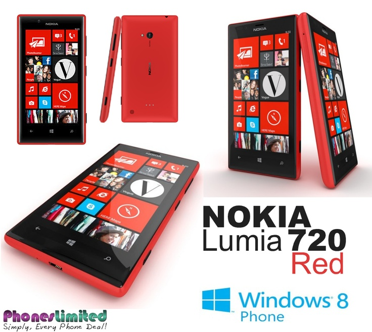 Nokia Lumia 720 Red - Best Deals - http://www.phoneslimited.co.uk/Nokia/Lumia+720+Red.html