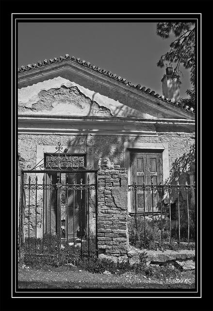 An old house somewhere on Malagari, Samos island, Greece