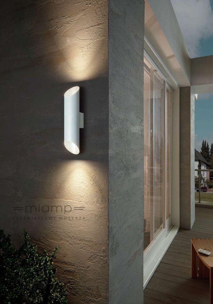 Kinkiet LAMPA elewacyjna AGOLADA 94802 Eglo zewnętrzna OPRAWA ścienna do ogrodu LED 7,4W metalowa tuba outdoor IP44 biała