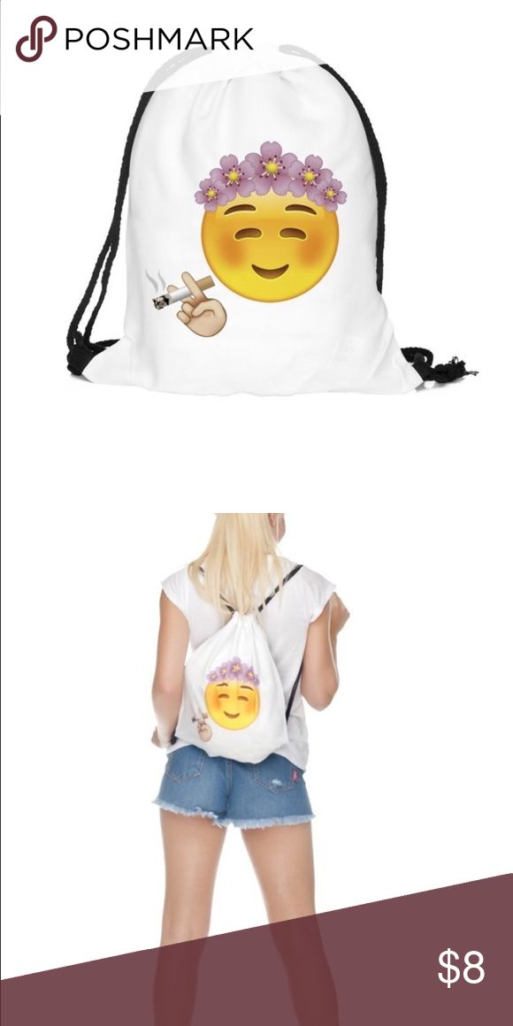 Cigarette  emoji smiley princess I have tons of these available. Make me an offer! It's very light so please take advantage of the 5 pound shipping and add some more items. Bags Satchels