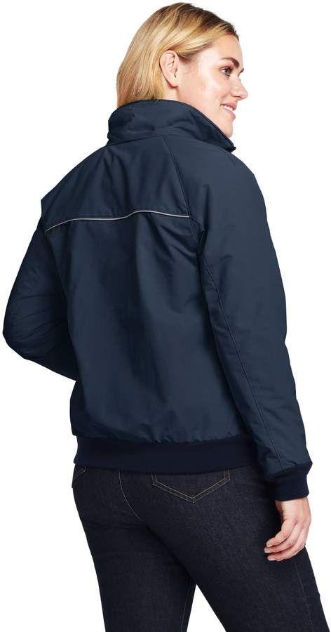 91651def974 Lands  End Lands end Women s Plus Size Squall Jacket  Women Lands ...
