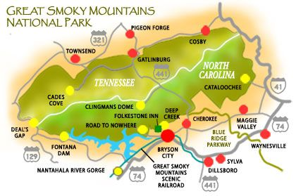Smoky Mountain Lodging in Bryson City, North Carolina