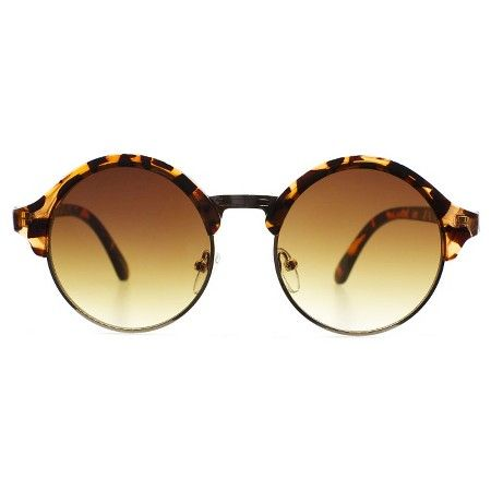 Women's Sylvia Alexander Round Half Framed Sunglasses - Tortoise : Target