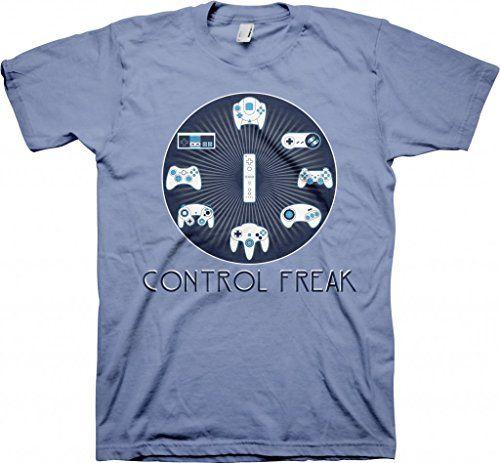 Control Freak Xbox Playstation Nintendo Funny T-shirt - Carolina Blue | #Apparel #external #Men