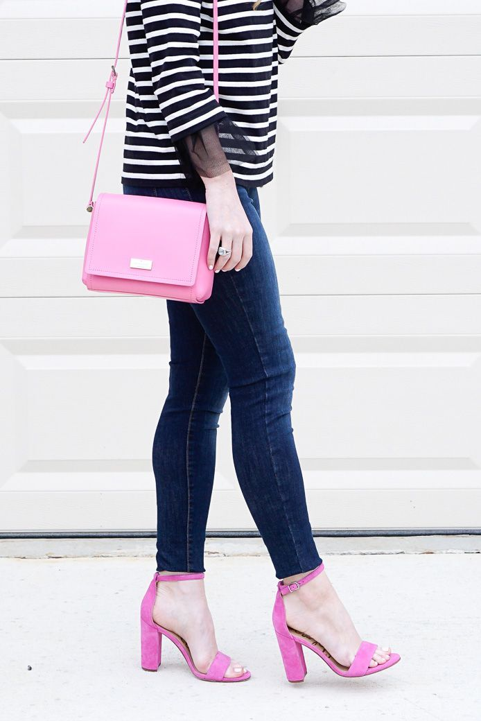 Tulle sleeves and pink accessories / Kate spade bag @xoAmandaJohn