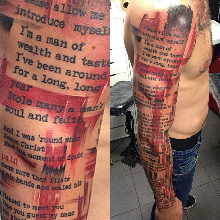 trash polka tattoo sleeve