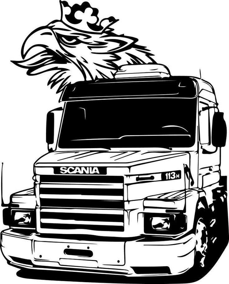 Imagem De Scania Por Liz Cabrera Desenhos De Caminhoes Tatuagem