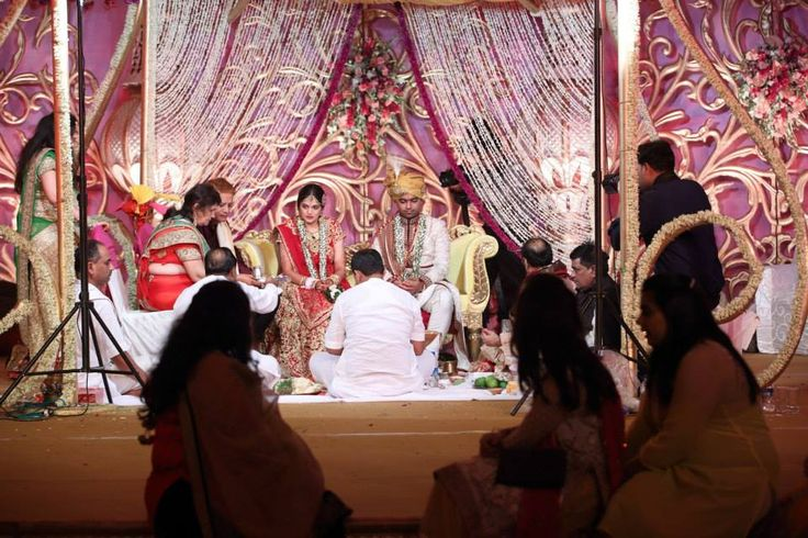 The wedding in progress at the mandap. #uniqueluxuryjaipurindianweddingplanners