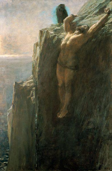 Prometheus Bound (1889). Briton Riviere | A Melange of Art ...