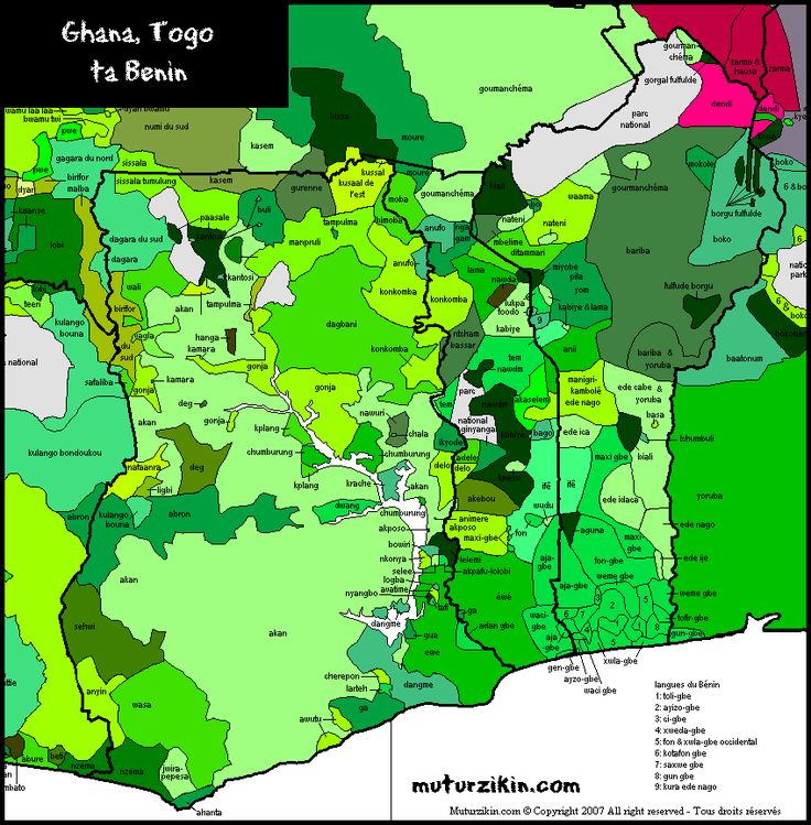 Languages in Ghana, Togo & Benin
