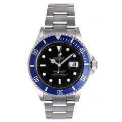 Rolex Stainless Steel Submariner Sport Diving Wristwatch Ref 16610