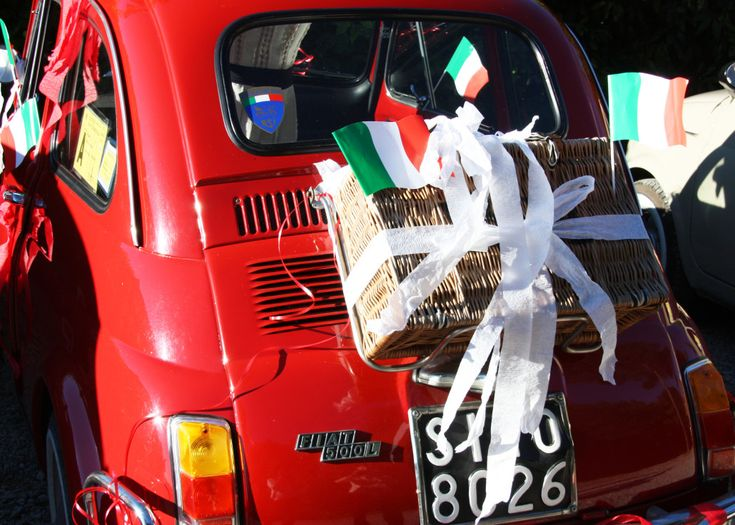 Bachelorette party in Tuscany! Driving vintage Fiat 500s through the Italian countryside. Visiting wineries along the way.