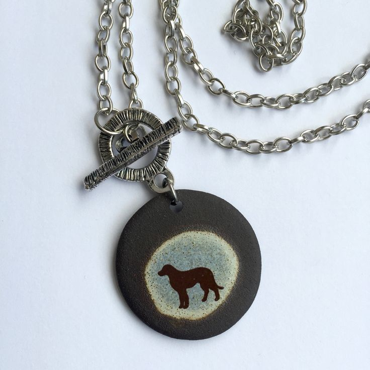 Dog Lovers Necklace handmade in Canada by Dotti Potts Pottery Studio. www.dottipotts.com