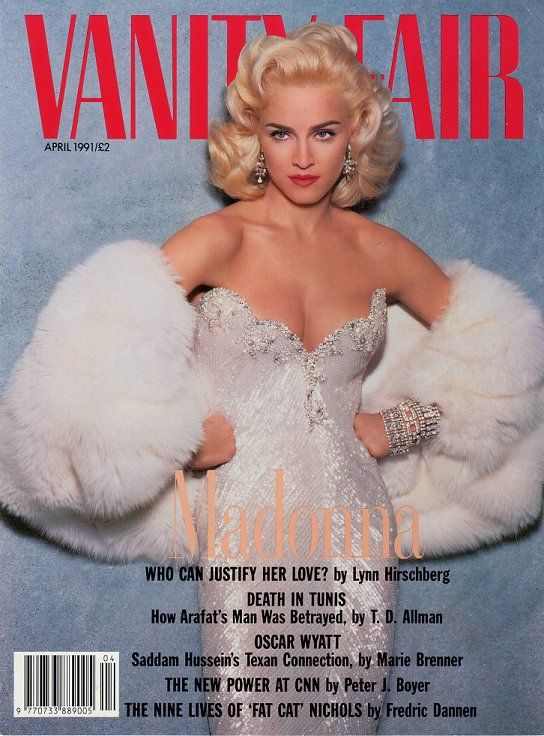 Madonna by Steven Meisel for Vanity Fair's April 1991 cover.