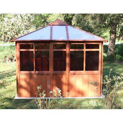 Solarus 10.5 Ft. W x 14.5 Ft. D Wood Permanent Gazebo