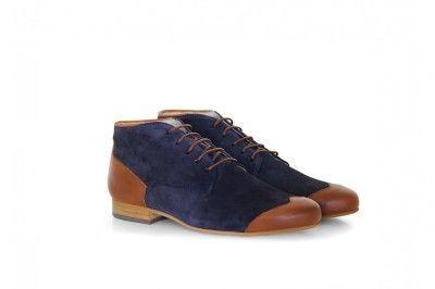 JAMES - SUEDE BLEU #derbies #boots #shoes #men #leather #desertboots
