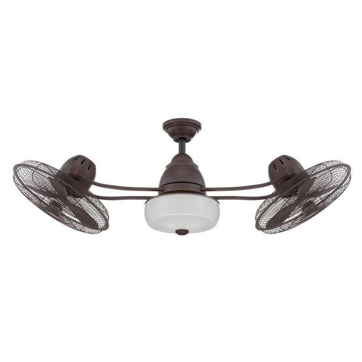 """48"""" Bellows II 6 Blade Dual Ceiling Fan with Remote"""