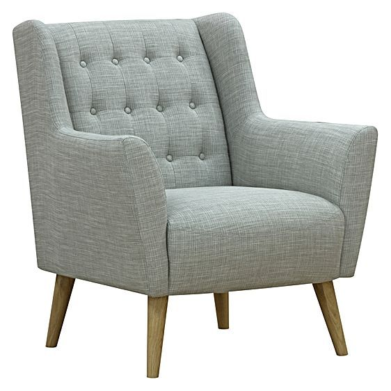 The Abel Linen Armchair from Zanui offers classic lounge features – deep-buttoned upholstery, high armrests, wide dimensions – all with the effect of creating an inviting and comfortable aesthetic in your living space.