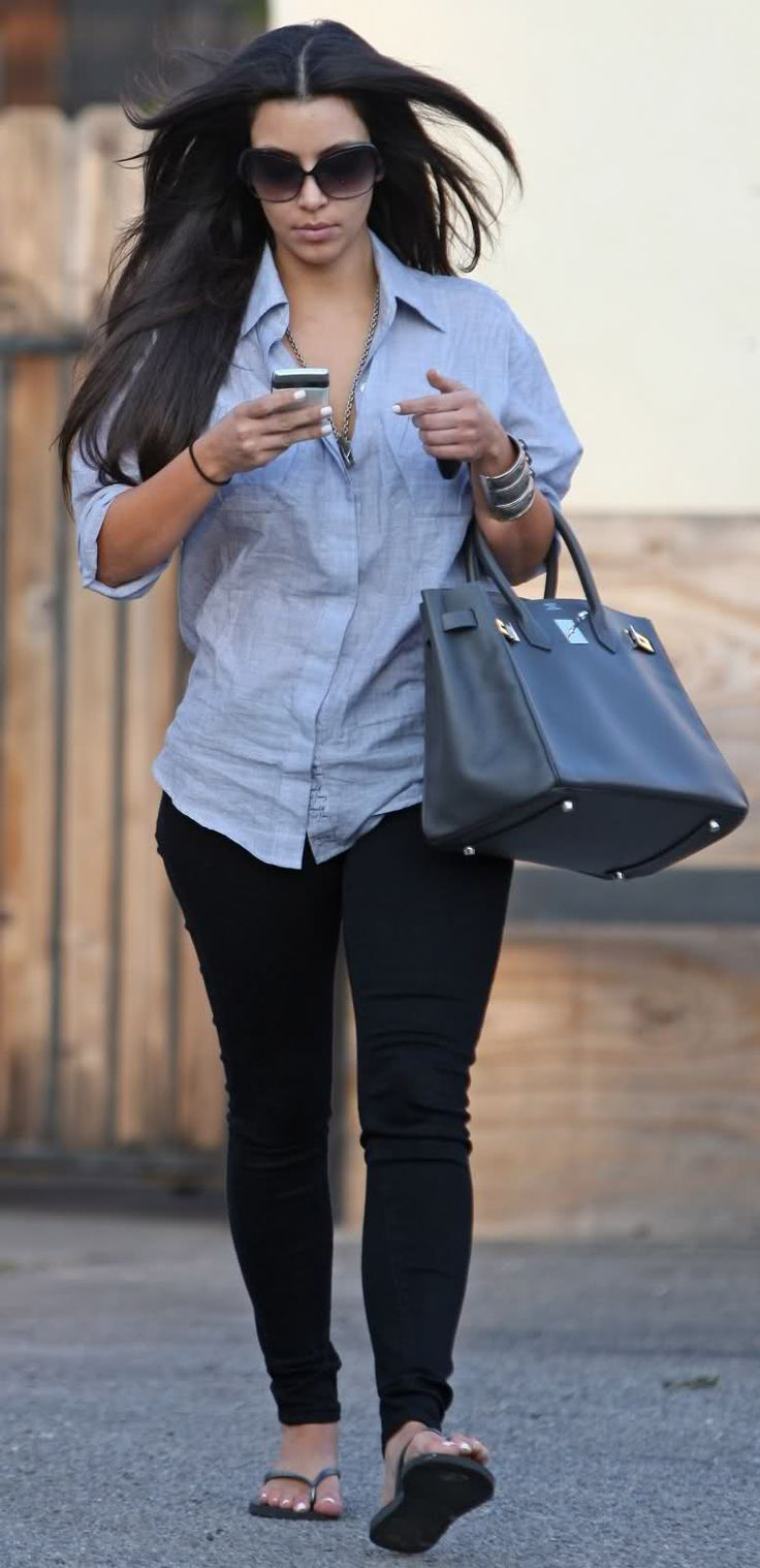 Simple And Casual Black Skinny Jeans Tights With A Denim
