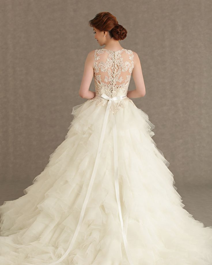 Breath Taking Statement Backs And Delicate Intricate Details On The New Veluz Reyes Ready To Wear 2013 Bridal Collection