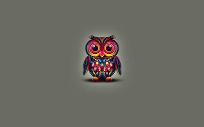 abstract wings eyes multicolor animals owls animal world 2880x1800 wallpaper Art HD Wallpaper