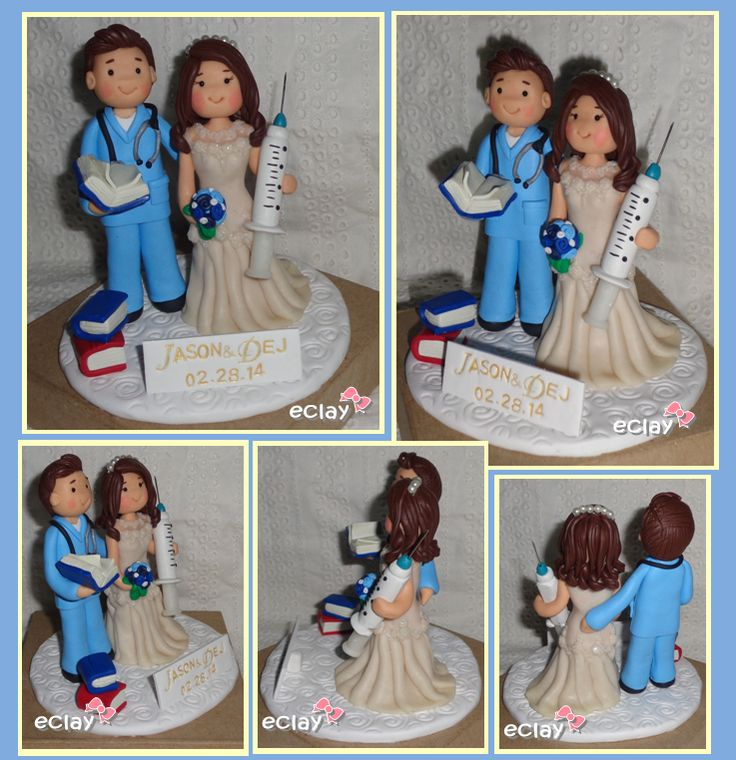 Handmade Wedding Cake Toppers