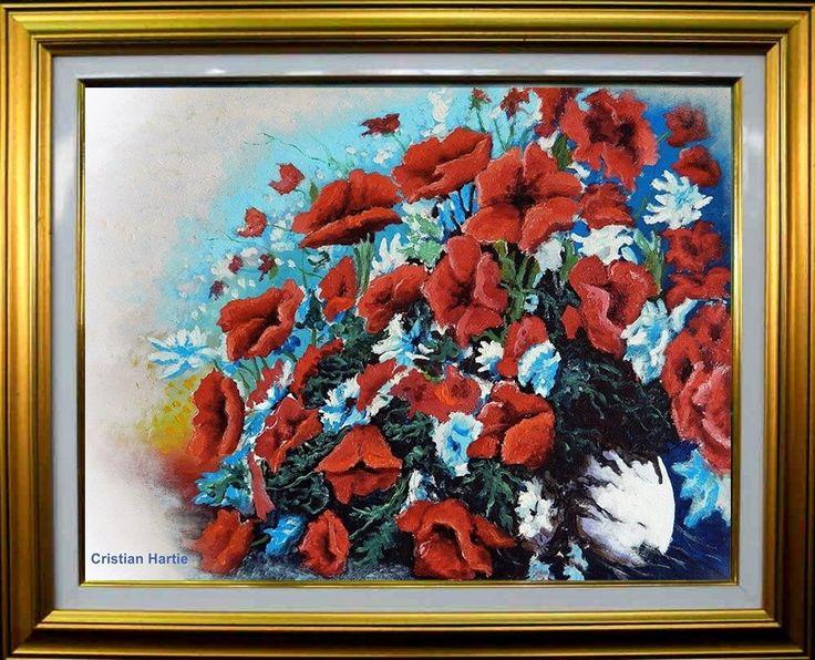 Maci imperiali / 80 X 60 cm / ulei pe panza  Pictor, Cristian Hartie