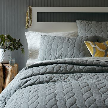 Braided Quilt + Shams - Plaster #westelm  king duvet $167 euros and king shams 27.00 sale prices thru may 3