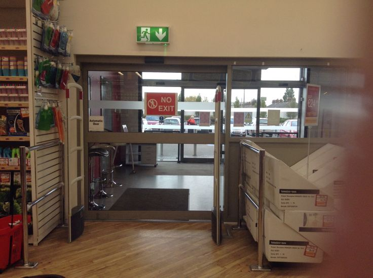 Store accessibility - the automatic doors provide better access for all customers