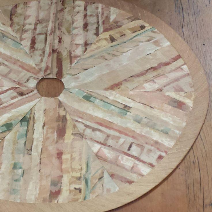 """30""""- 36"""" Mini-Tabletop Christmas Tree Skirt: shades of rust, terra cotta, green, golds, contemporary southwestern, tribal, desert by FeeneyLane on Etsy"""