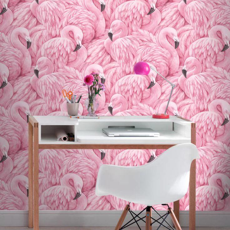 flamingo behang vogel xxx1