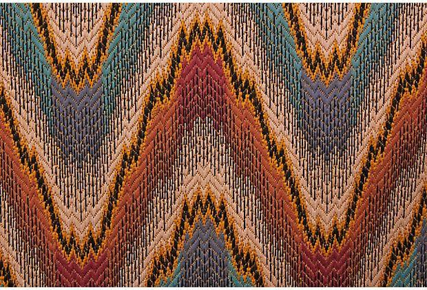 Flame Stitch Fabric, 1.3 Yds on OneKingsLane.com | Iris ...