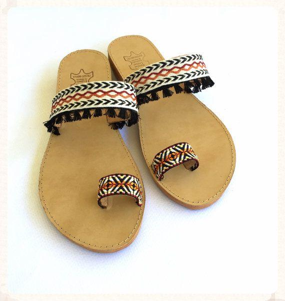 FREE SHIPPING Handmade Boho Sandals Ethnic by BohemianFootprints