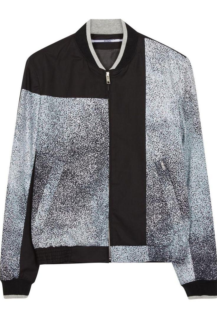 Harvey Nichols - KENZO Printed cotton bomber jacket