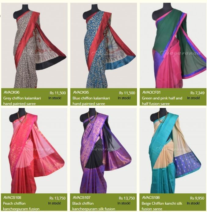 Aavaranaa presents you the best chiffon sarees collection. Chiffon fabrics are popular among woman as they are very easy to wear and carry. This is why we have catered a fine array of printed chiffon sarees as well as designer chiffon sarees. You will find these beautiful sarees in a myriad of pretty shades. So, wait no further simply browse through Aavaranaa's collection and pamper yourself with your favourite pure chiffon saree and much more!